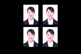 証明写真3白